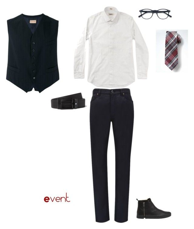 """""""Outfit 5"""" by keeshafrancois on Polyvore featuring Banana Republic, Romeo Gigli, Diesel, Montblanc, men's fashion and menswear"""