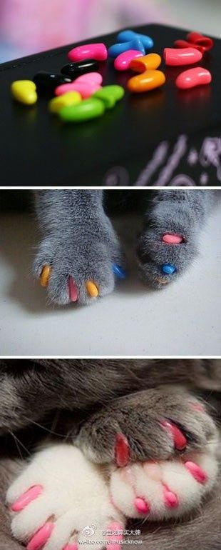 http://awesomefash.blogspot.com - Toooooooo cute! Way better than painting their nails with expensive OPIs!