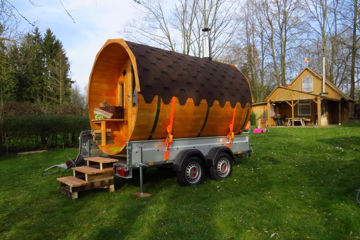 mobile fass sauna f r jeden wunschort so gelingt der aufbau wochenendhaus campingpl tze und. Black Bedroom Furniture Sets. Home Design Ideas
