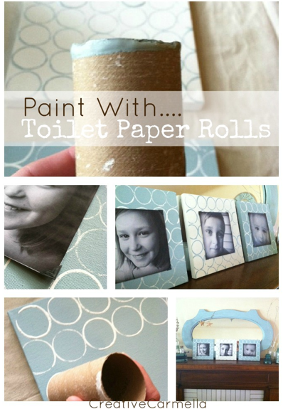 Stamp with Toilet Paper Tubes featured at savedbylovecreations.com, project by Creative Carmella