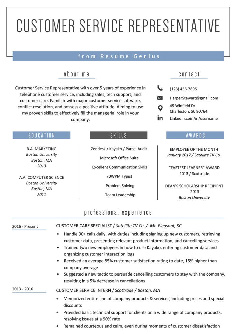 39++ Customer service rep resume sample Examples