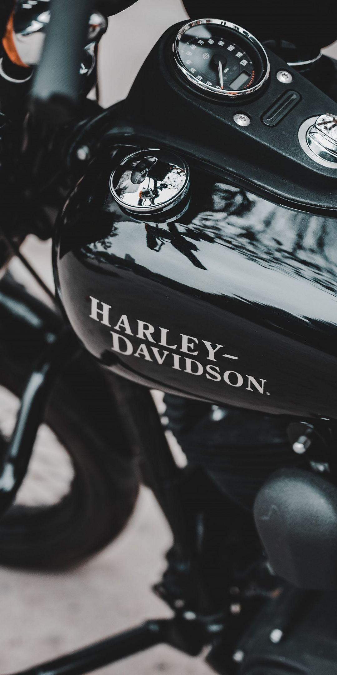 Harley-Davidson, muscle bike, 1080x2160 wallpaper