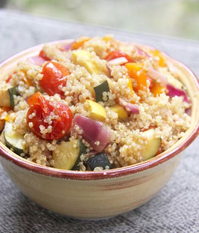 Quinoa Salad with Mustard Roasted Vegetables