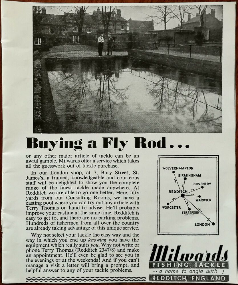 Milwards Fishing Tackle Redditch Buying A Fly Rod Vintage Advertisement 1964 In 2020 Vintage Advertisement Vintage Redditch