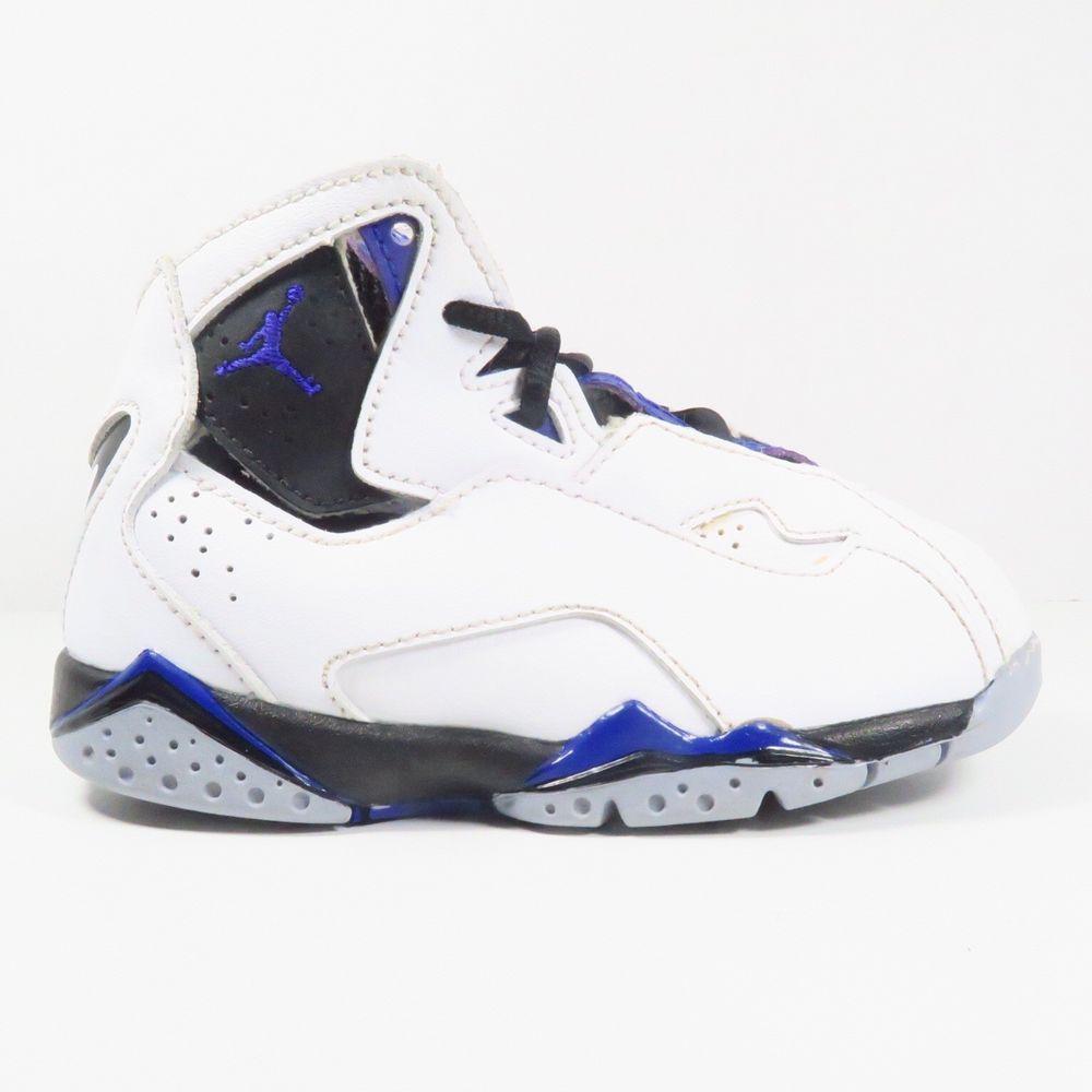 2043d96abe28a6 ... norway nike air jordan true flight sneakers in white blue black gray  size 7c toddler 045f8