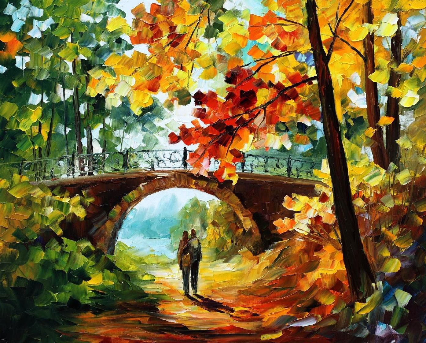 Forgotten palette knife oil painting on canvas by leonid for Oil paintings for the home