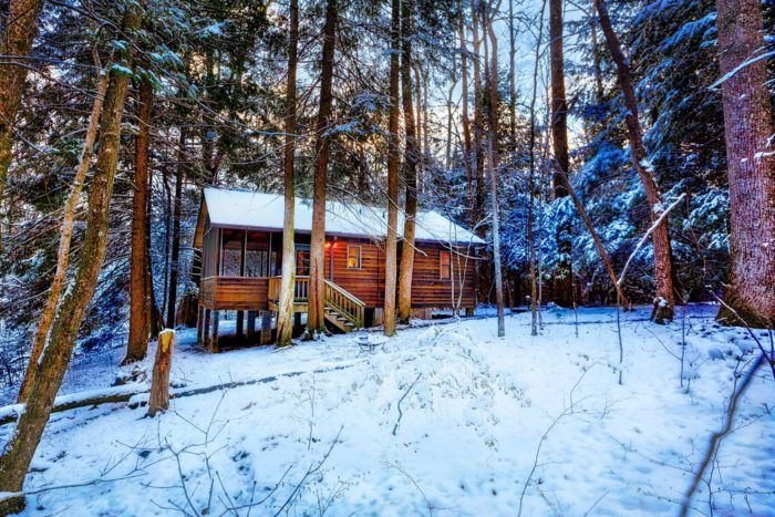 West Virginia's Best Winter Camping Awaits You At Opossum Creek Retreat #westvirginia