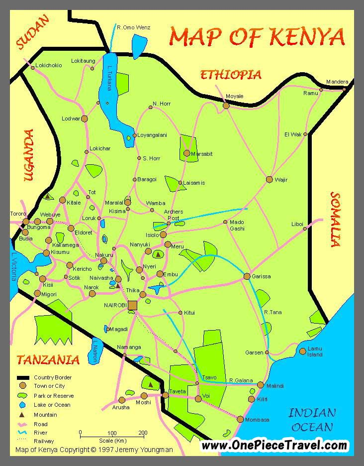Cool Kenya Map Tourist Attractions Map Kenya Missions Trip