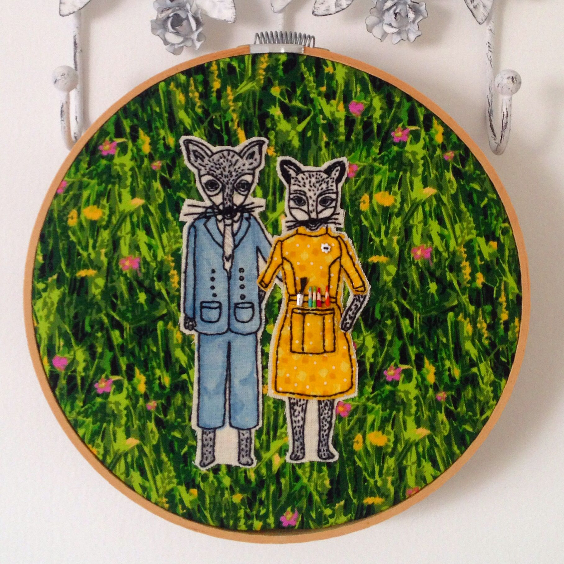 Fantastic Mr. Fox. Embroidery by me.