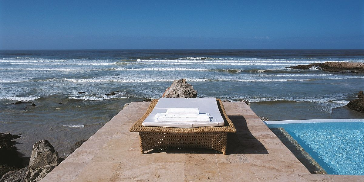 Birkenhead House - Hermanus, South Africa  Perched on the rugged cliffs of South Africa's Western Cape, in the gorgeous town of Hermanus, Birkenhead House is a stylish, contemporary hotel with tantalizing cuisine, an elegant spa and stunningly decorated rooms with spectacular ocean views.