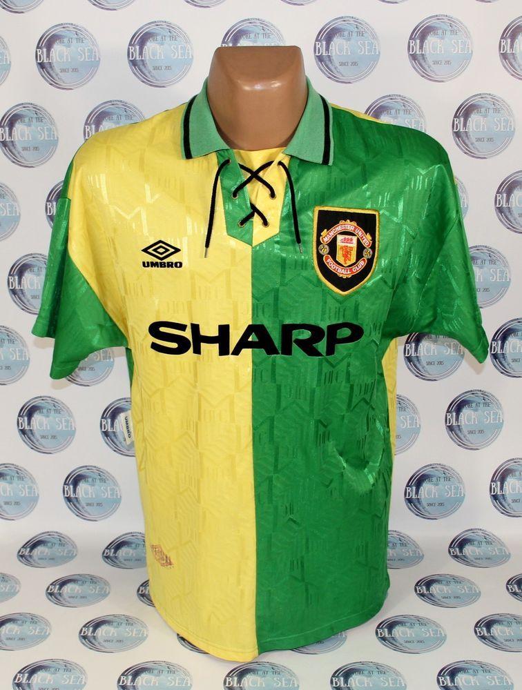 b9bf704e9 MANCHESTER UNITED 1992 1994 AWAY FOOTBALL SOCCER SHIRT JERSEY TRIKOT UMBRO  L  UMBRO  ManchesterUnited