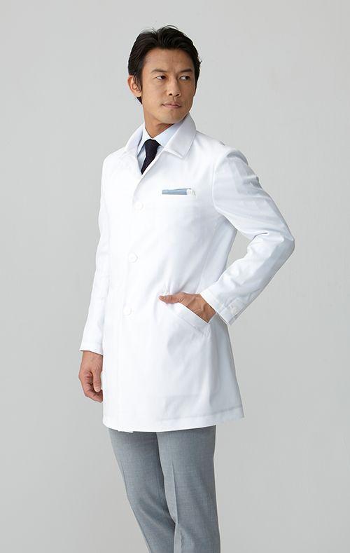 aae9919984fa39 メンズ白衣:ステンカラードクターコート   クラシコ   F   白衣、コート、服