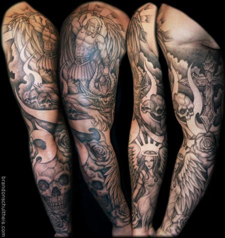 Angels And Demons Tattoos Tattoo Inspiration Worlds Best Tattoos