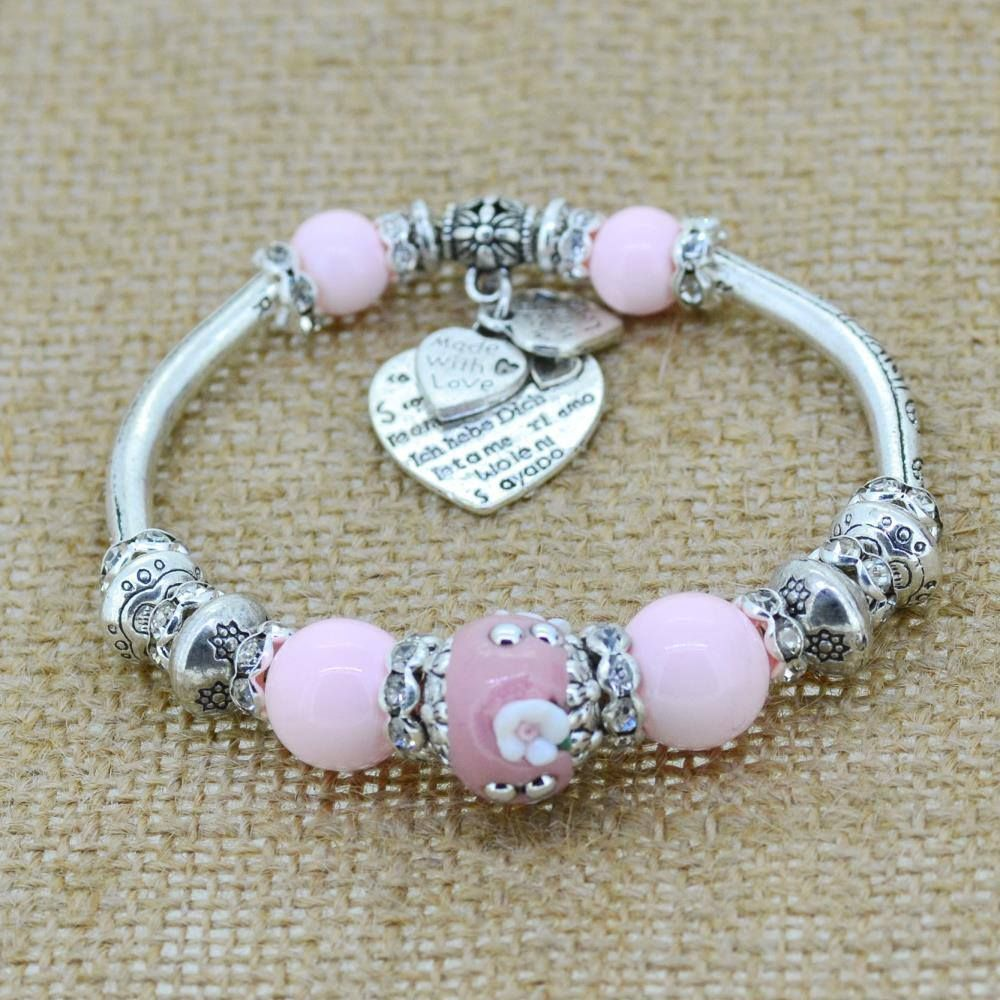 a7cee6ac58c3 Love Heart Charm Bracelet