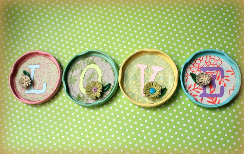 Decorate Your Jars Lids - World of the Woman