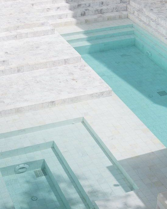 Can We Say Anything More About This White Marble Pool In
