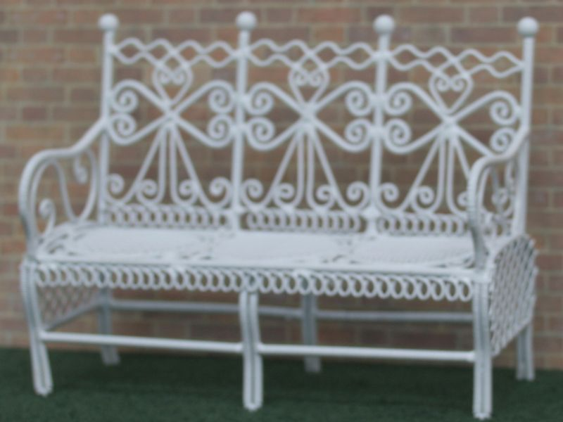 Dolls House White Wire Garden Bench. WW47. | IT\'S A SMALL WORLD ...