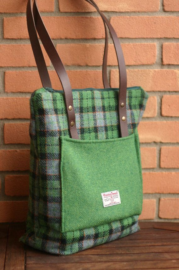62fd58a2b9 Harris Tweed tartan tote bag - handmade wool - no longer for sale on Etsy -  pic for inspiration - may be made with repurposed wool