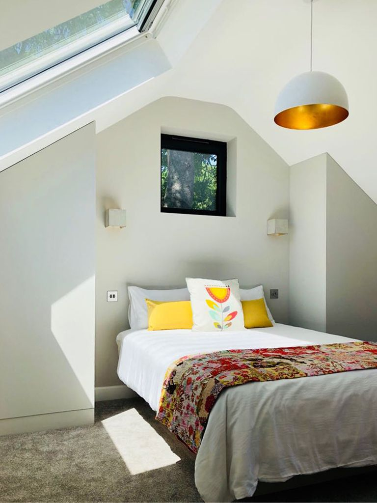 Contemporary Chalet Bungalow Conversion By La Hally: New Bedroom In A Modern Coach House / Barn Conversion And