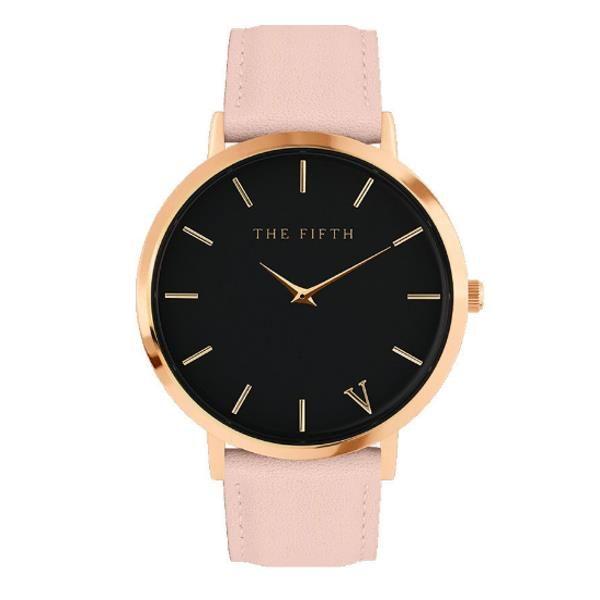 THE FIFTH Fashion Men Women Quartz Watch Simple PU Leather Strap Watch