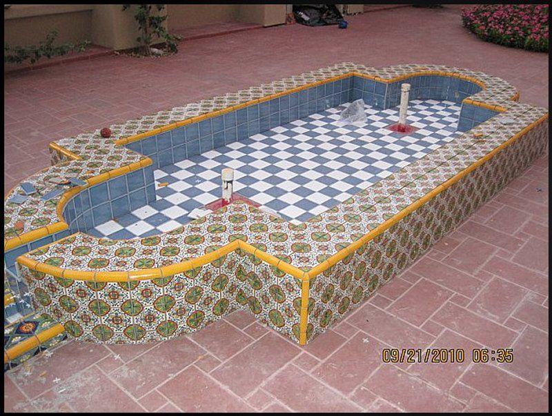 Home Decor Tile Mexican Tile Decorating A Wading Fountain Mexican Home Decor