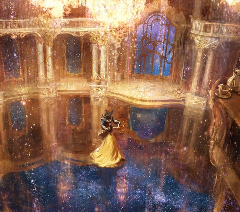 Beauty And The Beast Ballroom With Images Beast Wallpaper