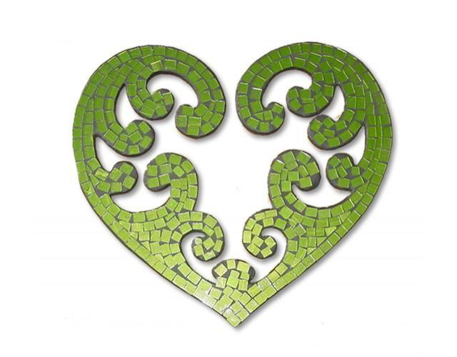 Maori Tattoo Love: NEW DESIGN!!! Mosaic Koru Heart Wall Art Gr