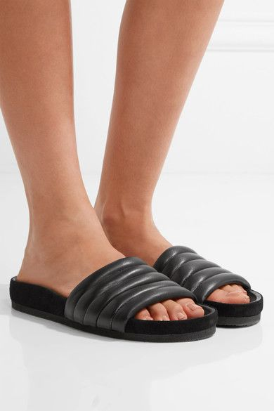 Isabel Marant Hellea quilted leather slides gQNa03Mp