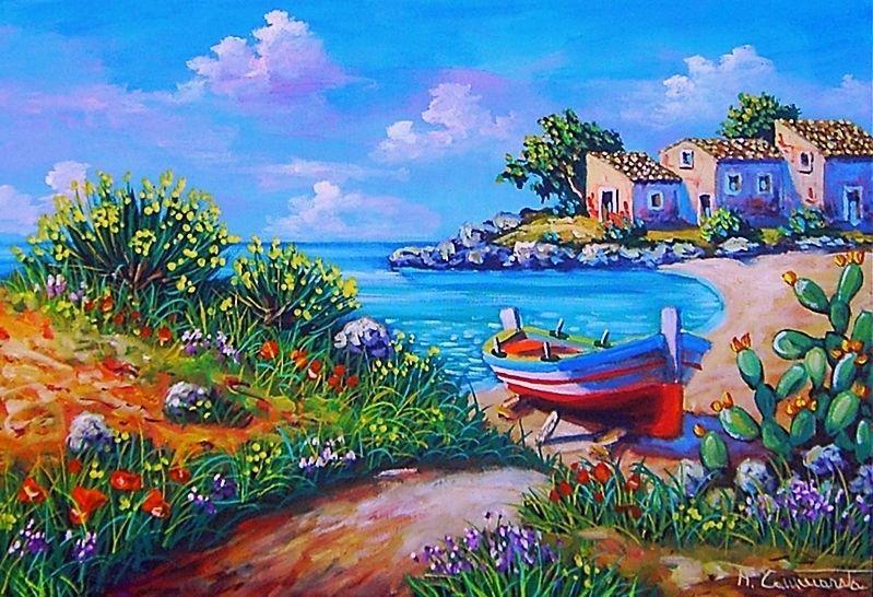 Quadri marina olio su tela 35 x 50 disponibile su www ...