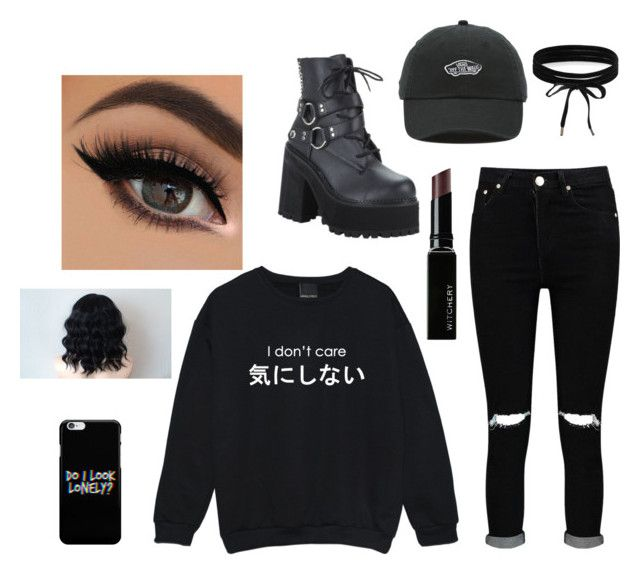 """I'm back hi"" by psychotic-robot on Polyvore featuring Boohoo, Pleaser, Witchery and Vans"