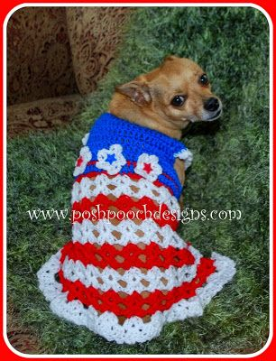 The Betsy Dog Dress - Small Dog Sweater - New Crochet Pattern ...