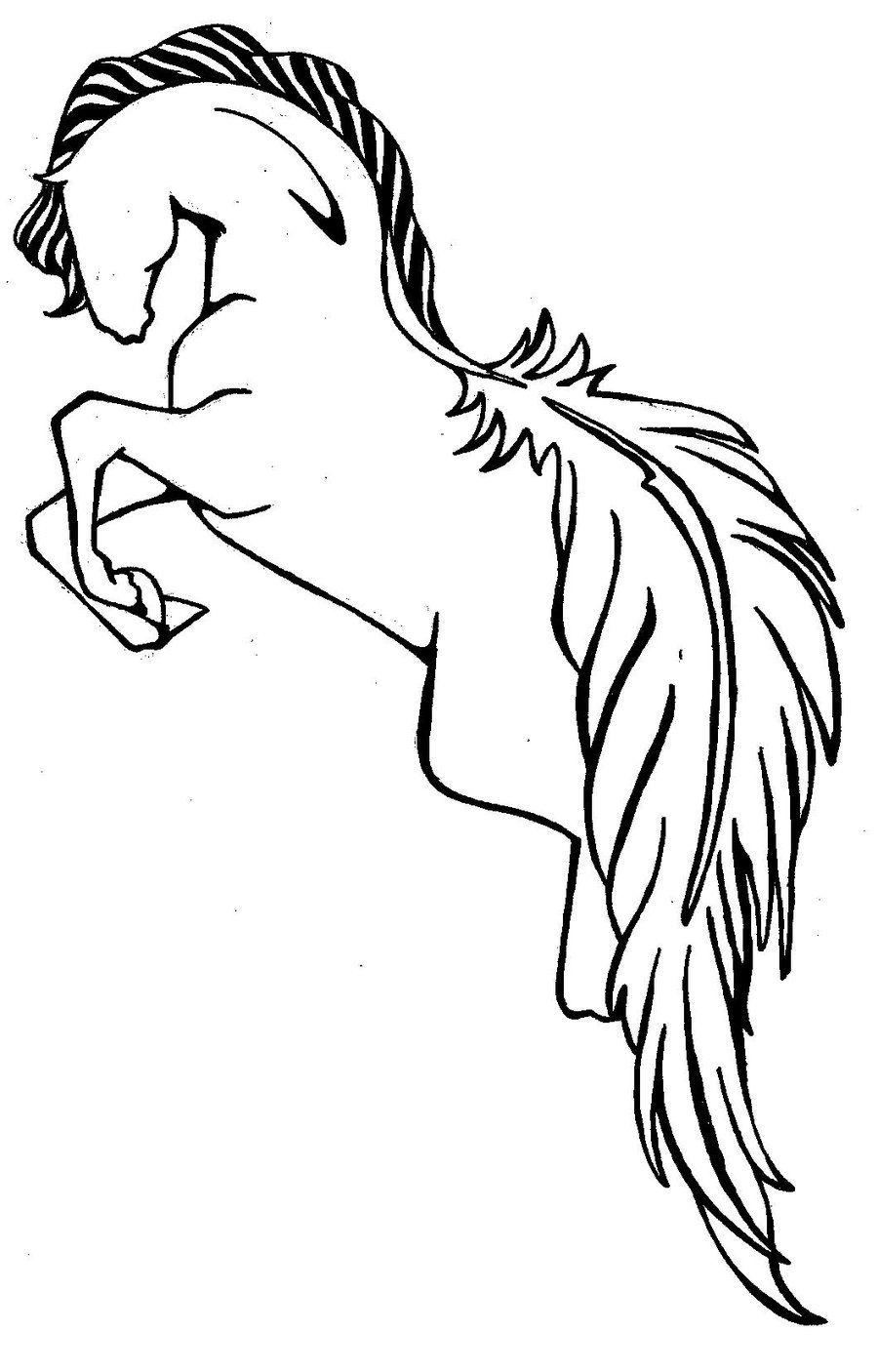 Horse Tattoo Idea...kinda neat....id add more Horse