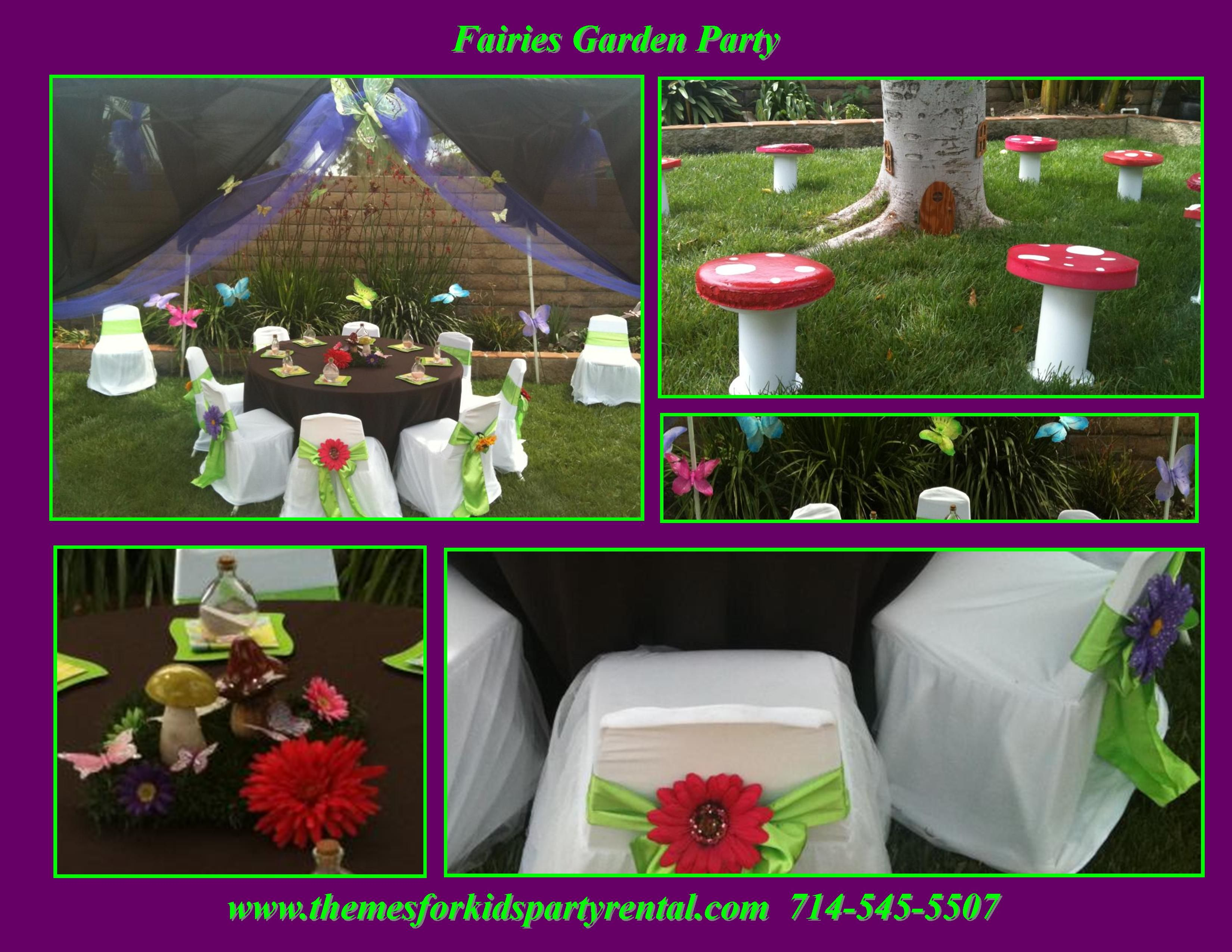 Garden Fairy party ideas, fairy party decorations, Fairty party ...