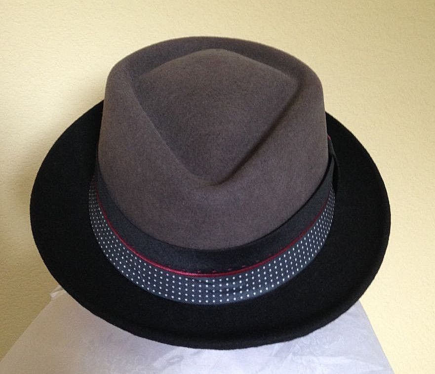 13380657b5b BILTMORE GOVERNOR MENS GREY WOOL PORK PIE HAT L SALE NEW FEDORA DRESS USA