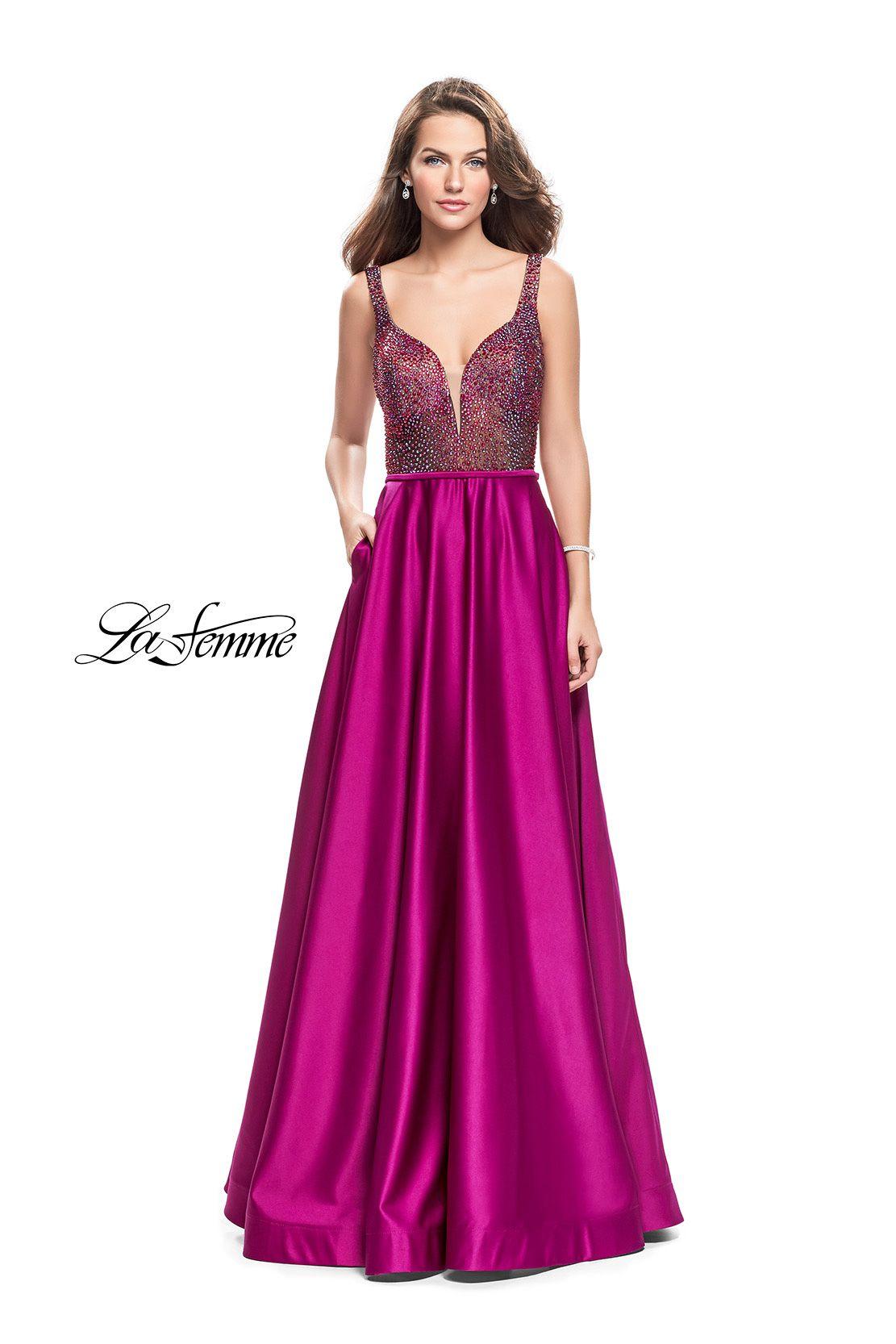 Encantador La Femme Vestidos Prom Venta Friso - Colección de ...