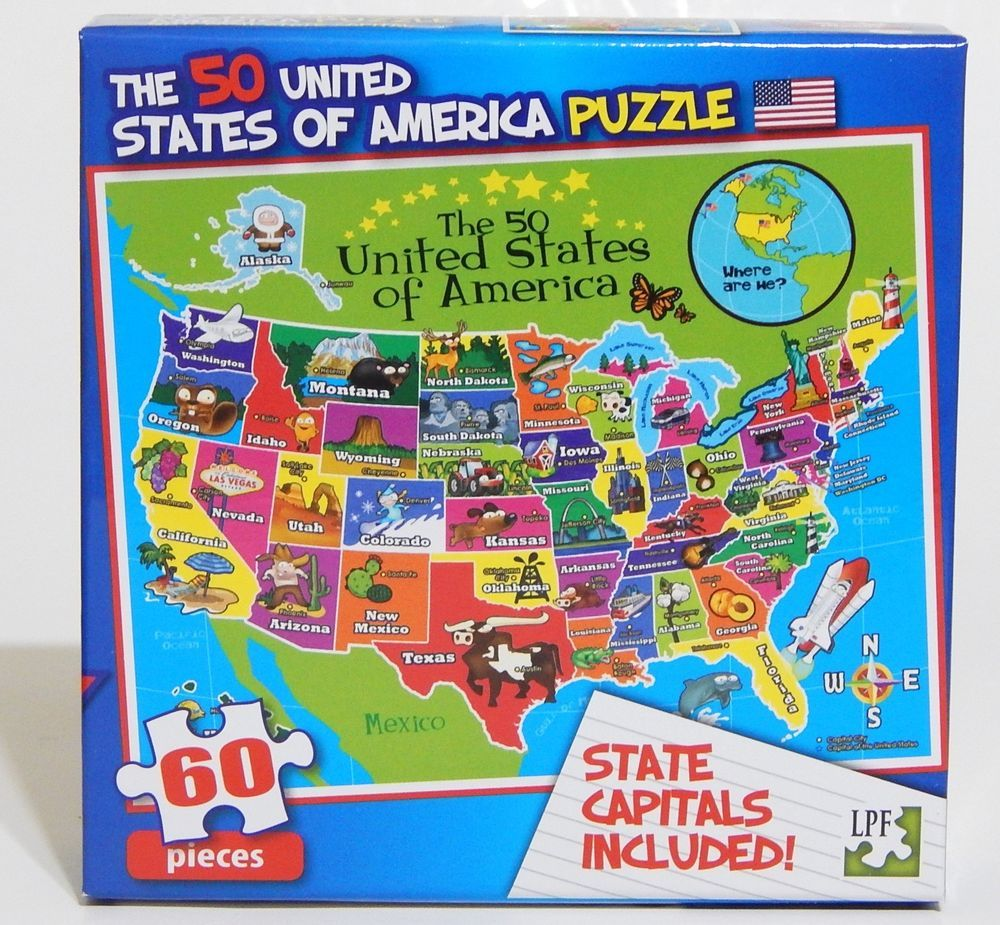 LPF 60 Piece Jigsaw Puzzle United States of America w ...