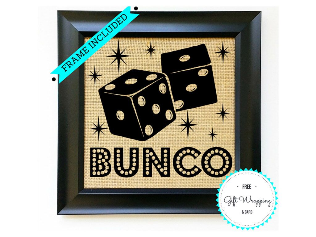 BUNCO Game Night Ladies Girls Night Out Welcome to Bunco Burlap Sign ...
