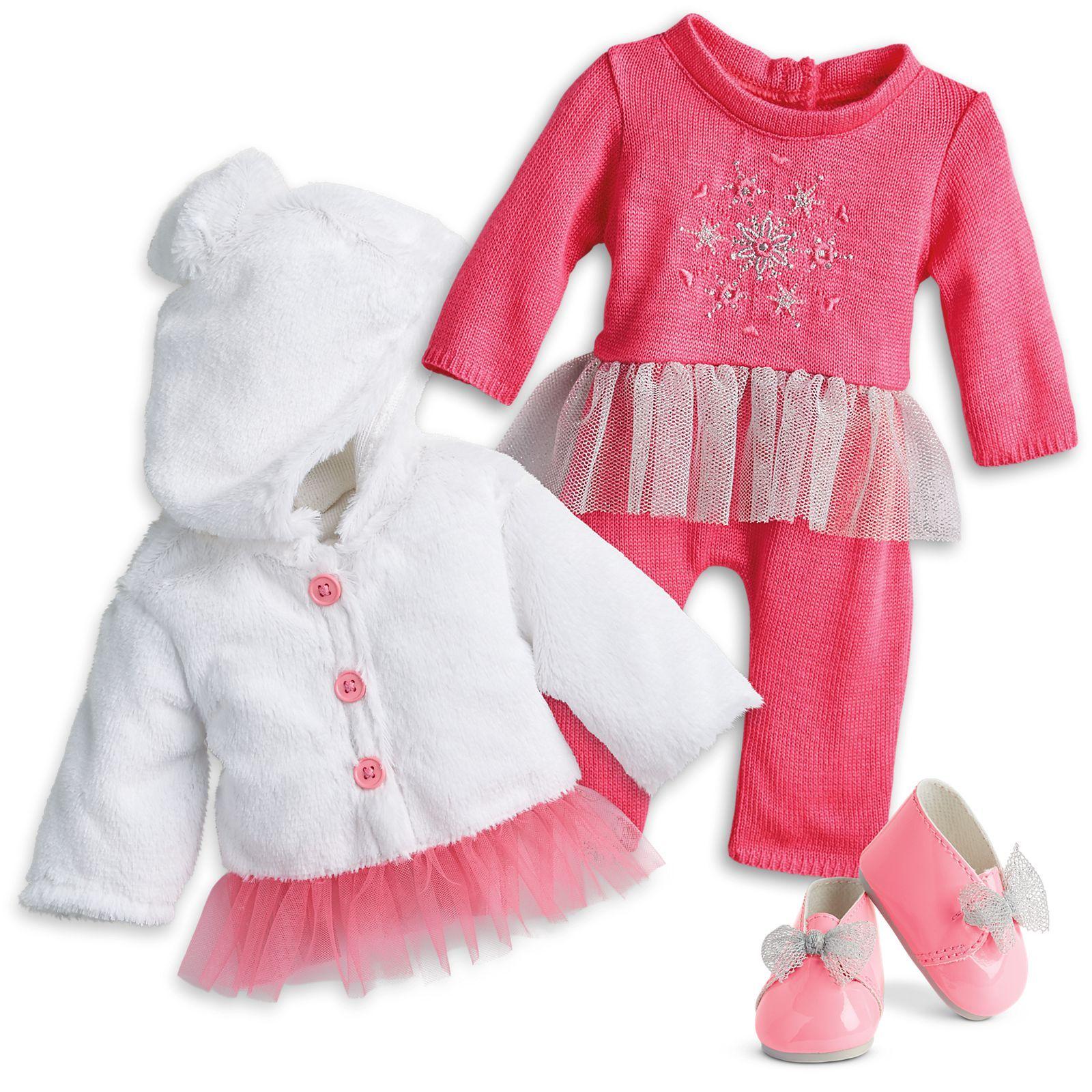 Winter Snowflake Sweater & Bodysuit for Bitty Baby Dolls