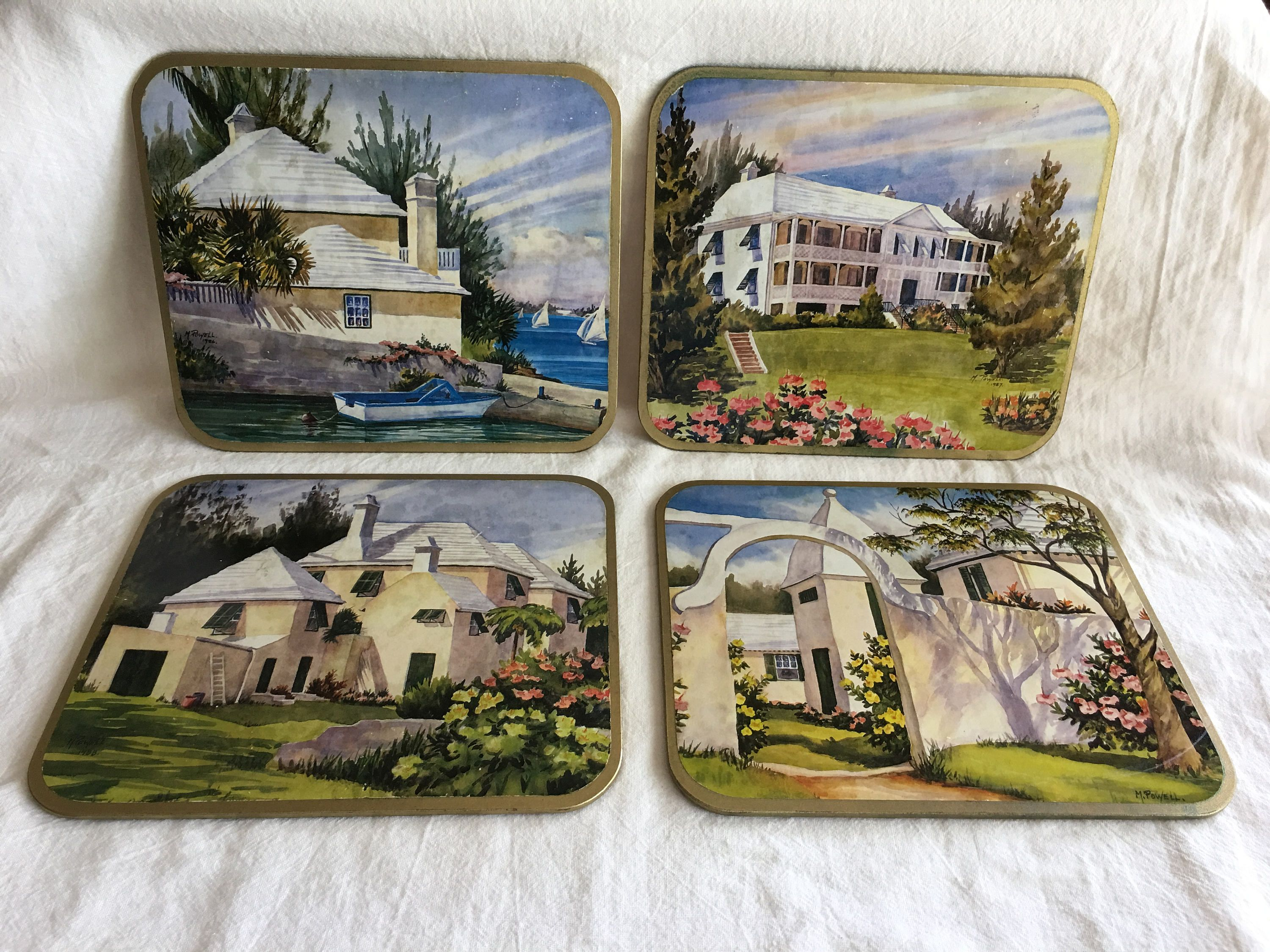Mary Powell Bermuda Coasters Awesome Ebay Etsy Finds July