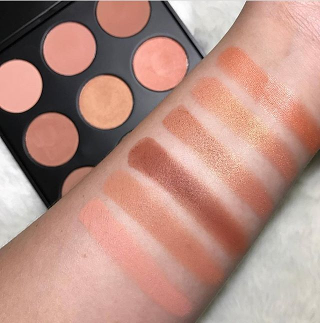 morphe bronzer palette. 9n - the naturally blushed palette | morphe brushes bronzer palette r