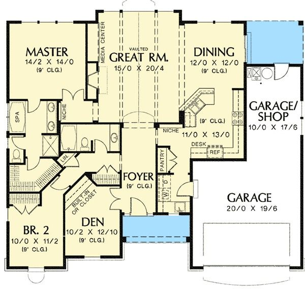 Plan 6929am Ideal For Empty Nesters Or First Time Buyers Retirement House Plans Empty Nester House Plans House Plans