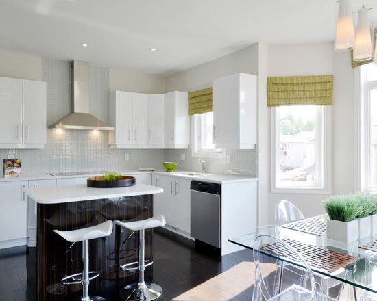 Furniture Cool Modern Kitchen Design With Small Island And White Kitche Stylish