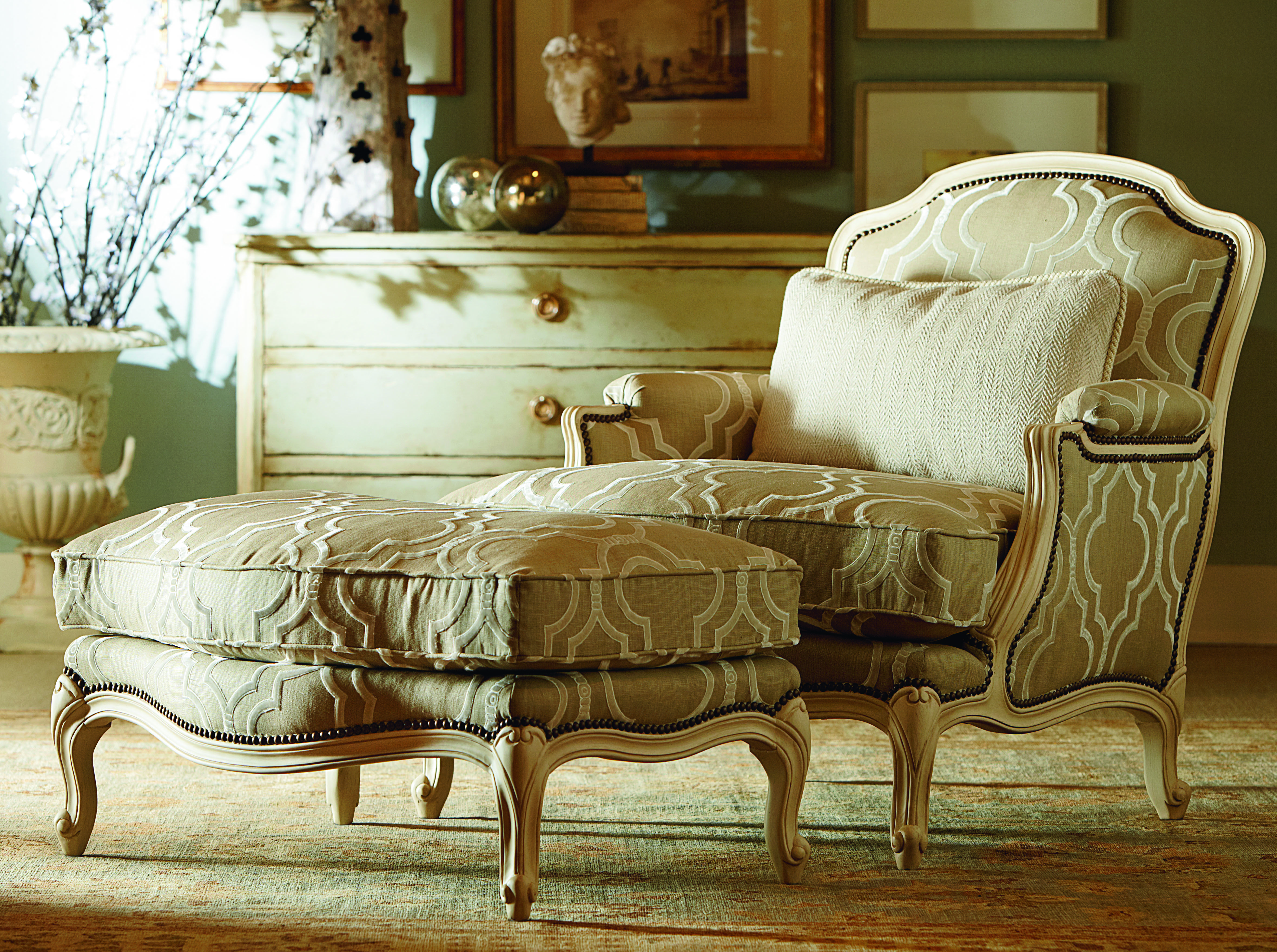 The Francoise Chair And Ottoman From Century Furniture Available At Seldens In Tacoma Wa