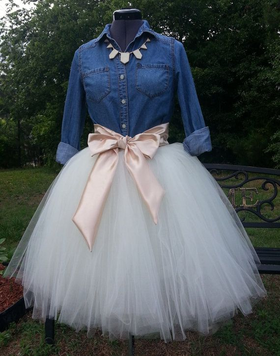 f25056f4160 Custom Made Adult Ivory Tulle Tutu Style Skirt for by BaroKids ...