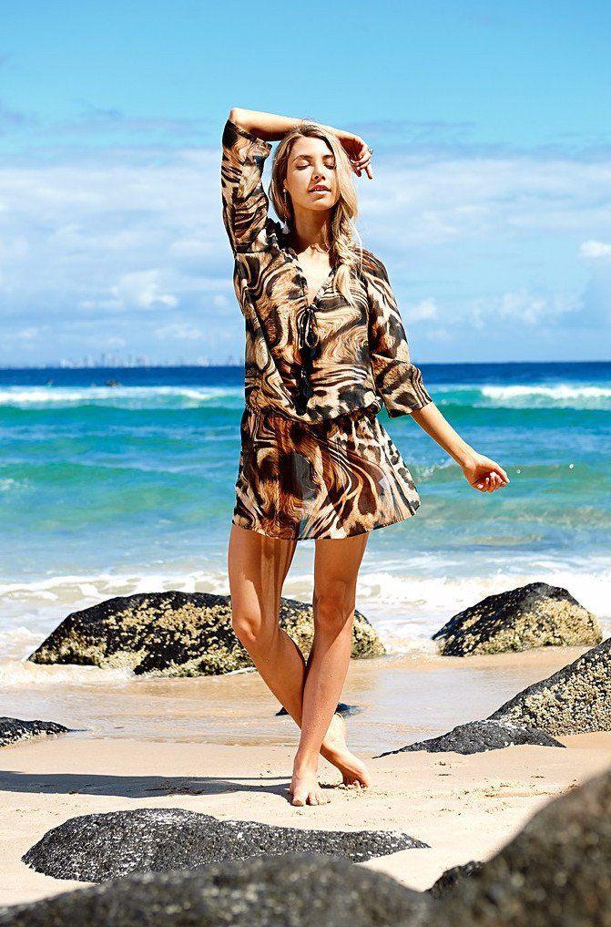 f540c4e7dc Akosee Animal Print Silk Kaftan  summerscoming  beach  beachstyle  resort   resortstyle  beachfashion  kaftan  bondi  bondibeach  australia  weekend    ...