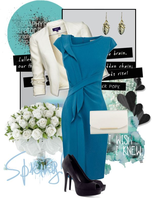 """""""Dress in Teal"""" by pantherstyle ❤ liked on Polyvore"""