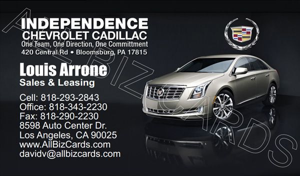 Pin On Automotive Dealership Cards
