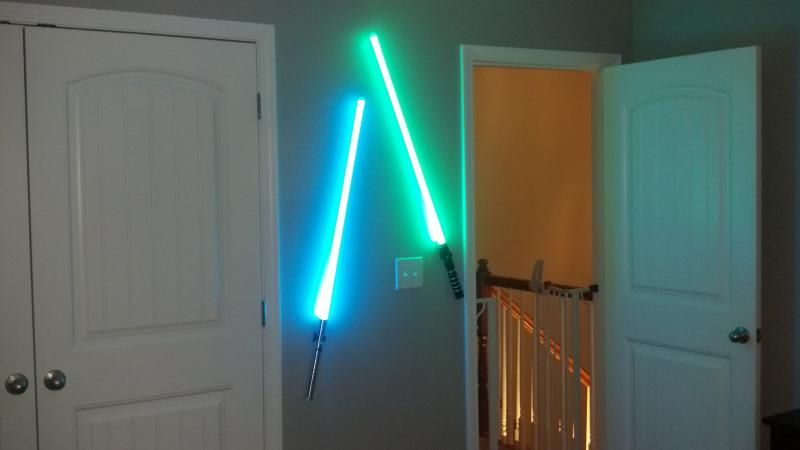 lightsaber bedroom light light saber lights wars nursery for the baby 12127