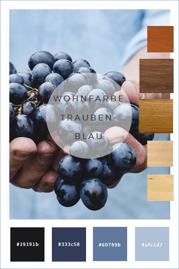Farbkonzepte Wände In Traubenblau Szín