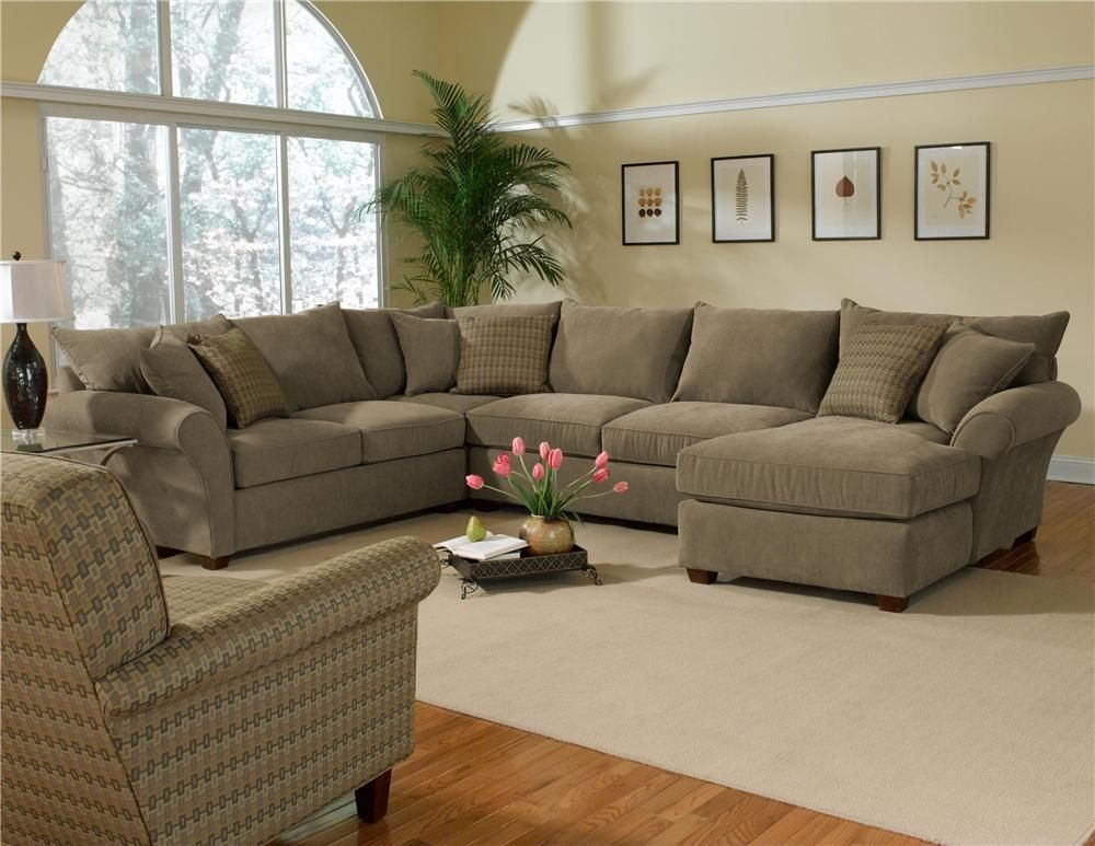 Best 10400 Upholstered Sectional By Alan White White 400 x 300